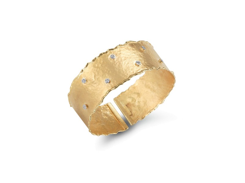 I.Reiss Matte And Hammered Finish Cuff Bracelet