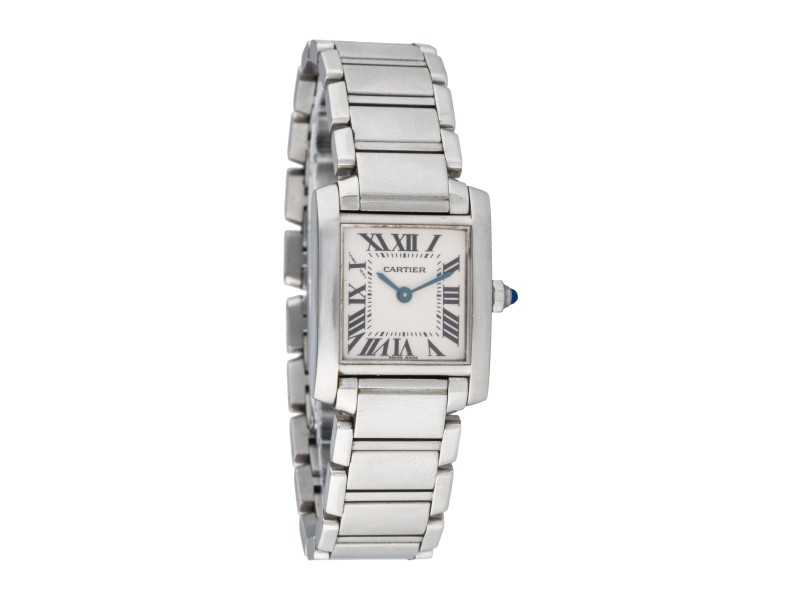 Cartier Tank Francaise 2384 Stainless Steel 22mm Watch