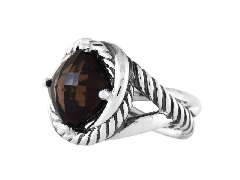 David Yurman Sterling Silver & Smokey Topaz Ring