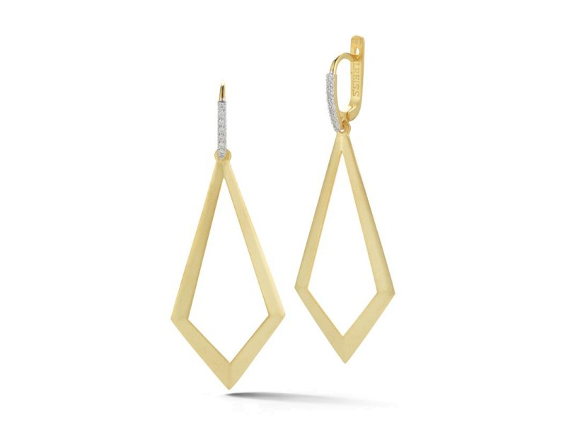 I. Reiss ER3164Y 14k Yellow Gold diamonds0.15 H-SI Diamonds Earrings