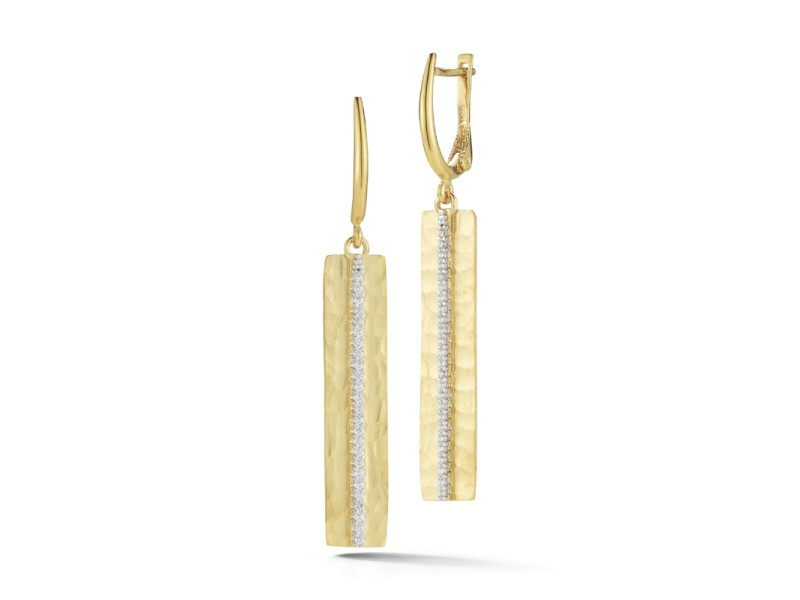 I.Reiss 14K Yellow Gold 0.3 Diamond Earrings