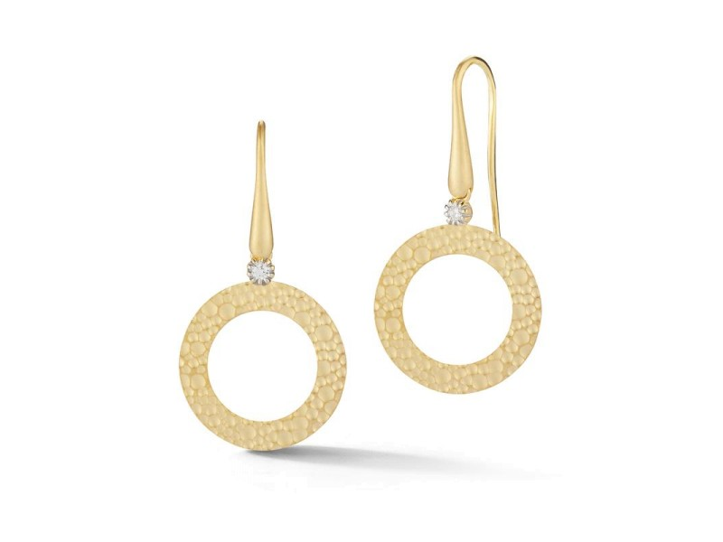 I. Reiss ER3195Y 14k Yellow Gold diamonds0.08 H-SI Diamonds Earrings