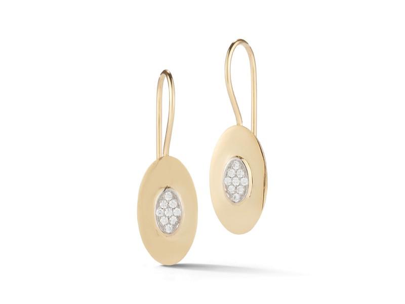 I.Reiss Polish-finished Oval Earrings