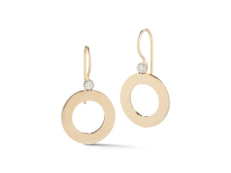 I.Reiss Polish-finished Open Circle Dangling Earrings