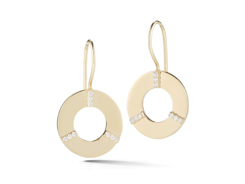 I.Reiss Polish-finished Open Circle Earrings