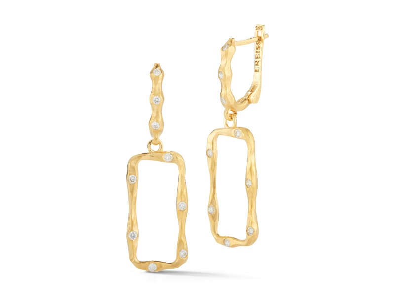I.Reiss 14K Yellow Gold 0.34 Diamond Earrings