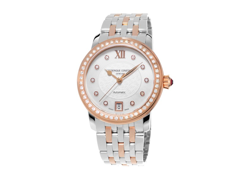 Frederique Constant Ladies Auto FC-303WHF2PD2B3 34mm Womens Watch
