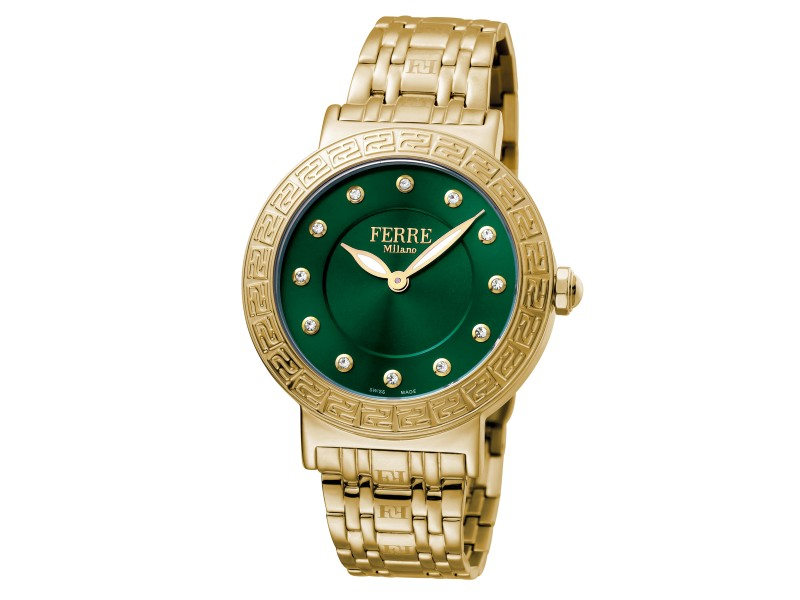 Ferre Milano Dk Green Gold Stainless Steel  FM1L041M0191 Watch