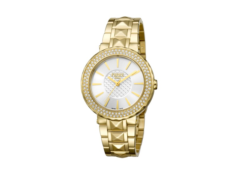 Ferre Milano Silver Gold Stainless Steel   FM1L058M0071 Watch