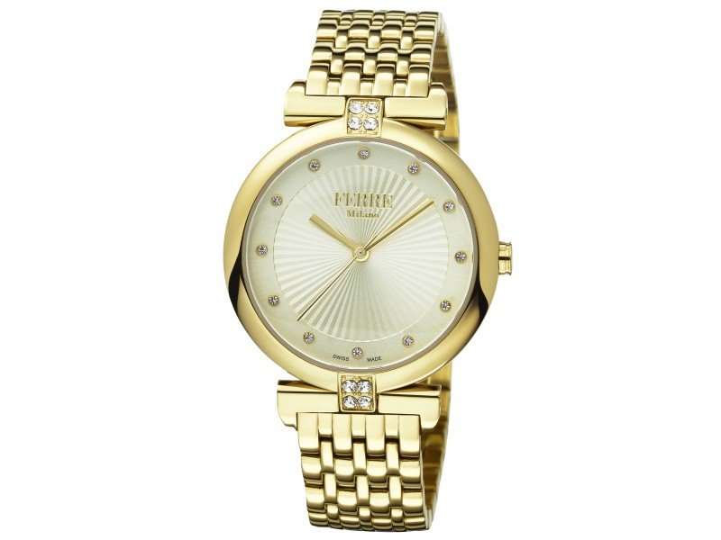 Ferre Milano Silver Gold Stainless Steel FM1L065M0041 Watch