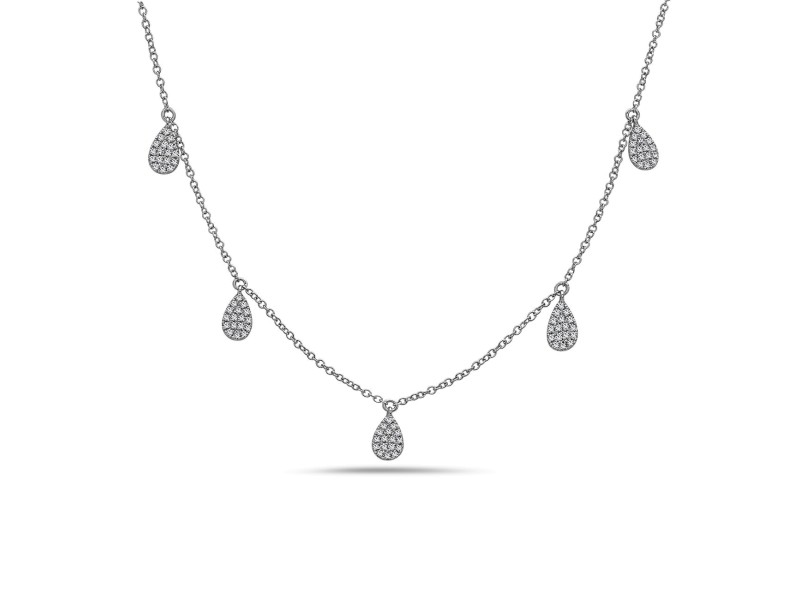 Crush & Fancy Sanna 14k White Gold 0.27ctw. Diamond Necklace