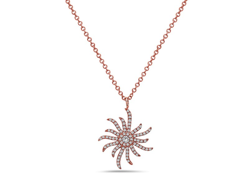 Crush & Fancy Callie 14k Rose Gold 0.28ctw. Diamond Necklace