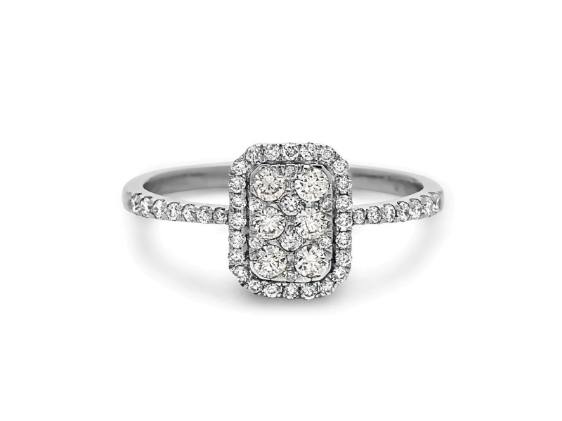 Crush & Fancy Love to Bits 18k White Gold 0.49ctw. Diamond Ring