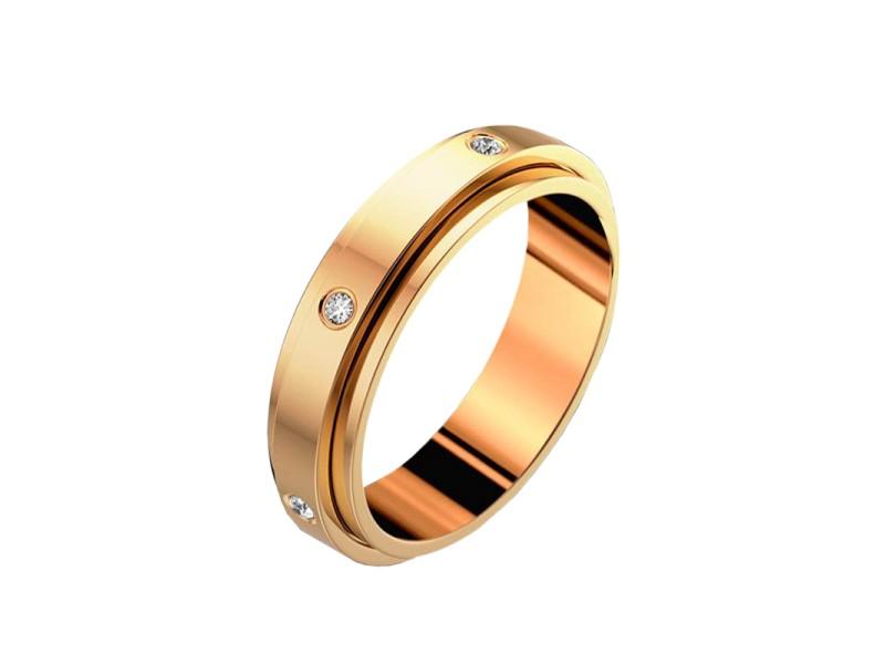 18K RG Possession Diamond Wedding Ring