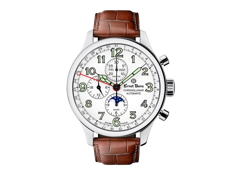 Ernst Benz ChronoLunar GC10312 A Mens  47mm Watch