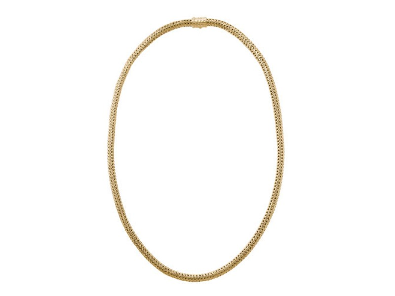 John Hardy Classic 18K Yellow Gold Woven Chain Necklace