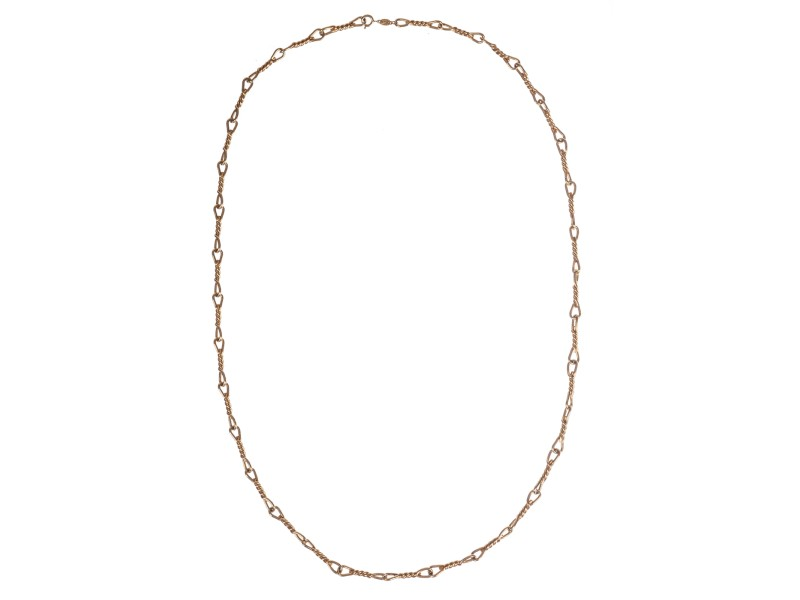 Christian Dior Gold Tone Barbed Wire Necklace