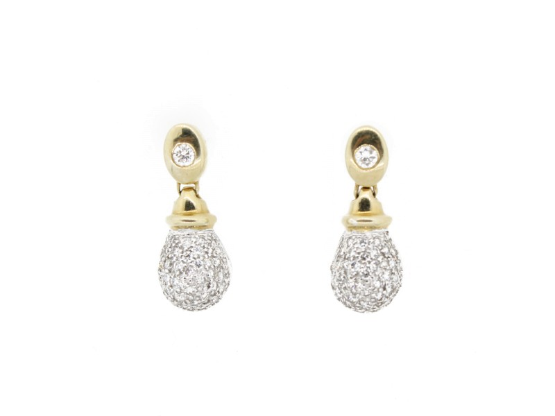 Diamond Teardrop Earrings With Gold