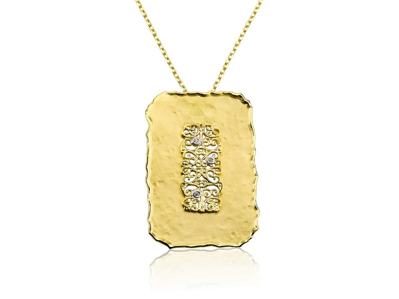 I.Reiss Matte Finish Filigree Pendant