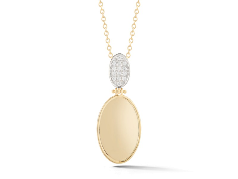 I.Reiss Polish-finished Drop Oval Pendant