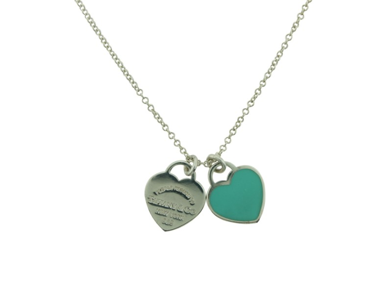 Double Tag Heart Pendant