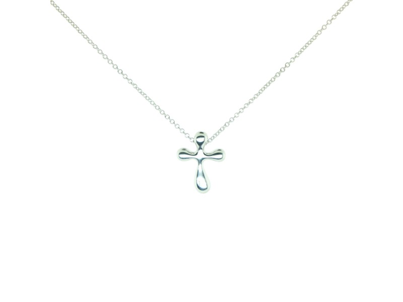 Tiffany & Co. Elsa Peretti Cross Pendant Necklace
