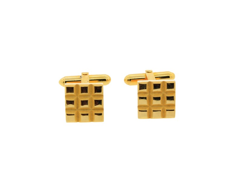 Vintage Christian Dior Square Cufflinks