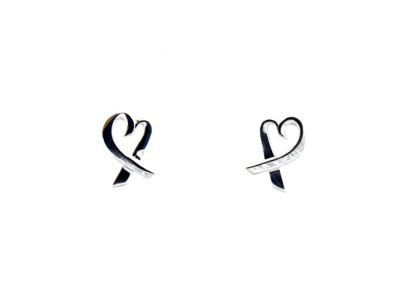 Tiffany & Co. Small Open Heart Earrings