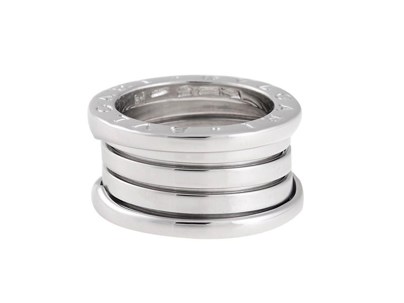 Bulgari B.Zero 1 18K White Gold Ring 4.5