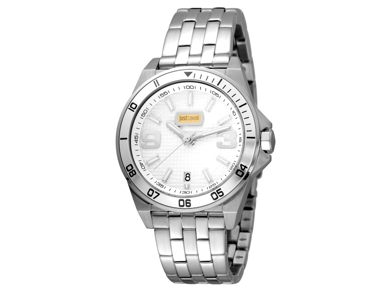 Just Cavalli Men's Sport Silver Dial Stainless Steel Watch