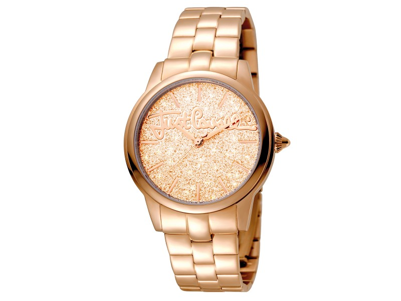 Just Cavalli Women's Glam Chic Mohair Rose Gold  Dial Stainless Steel Watch