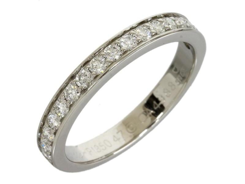 Cartier Pt950 Platinum Half Eternity 17P Diamonds Ring