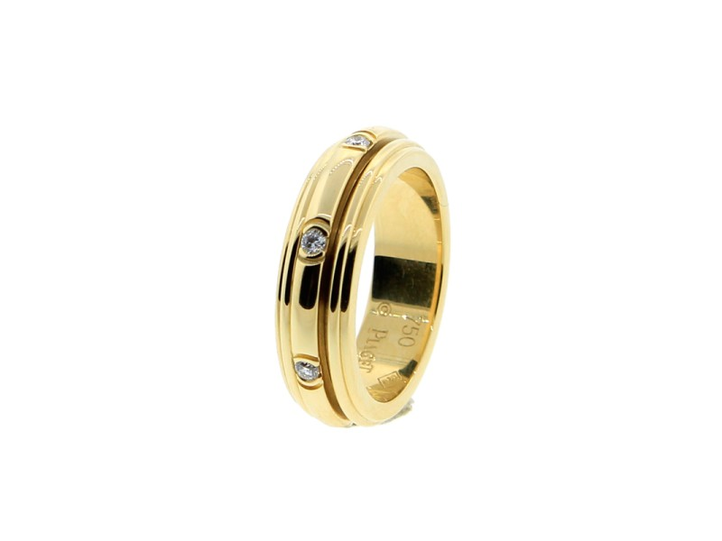 Piaget 18K YG Possession Diamond Ring