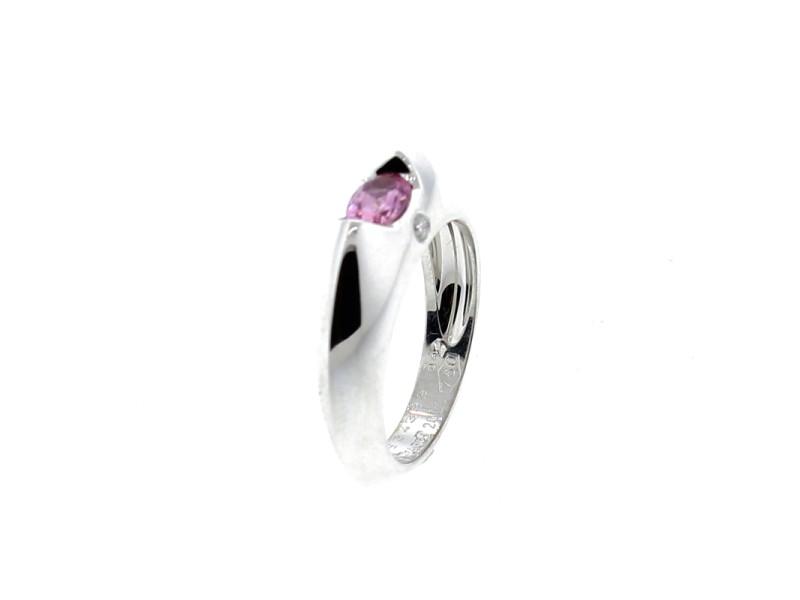 Piaget 18K WG Pink Sapphire Ring