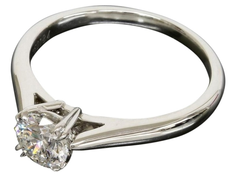 Harry Winston Platinum and 0.56ct Diamond Solitaire Ring US Size 5