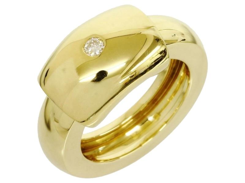Piaget 18k Yellow Gold 1p Diamond Dancer Design Ring