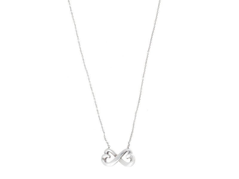 Tiffany & Co. Paloma Piccaso Sterling Silver Double Loving Heart Pendant Necklace