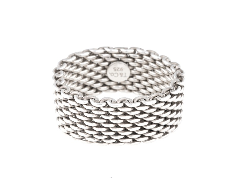 Tiffany & Co. Sterling Silver Somerset Ring Size 11.5