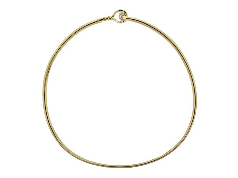 Tiffany & Co. 18k Yellow Gold and Platinum Diamond Choker