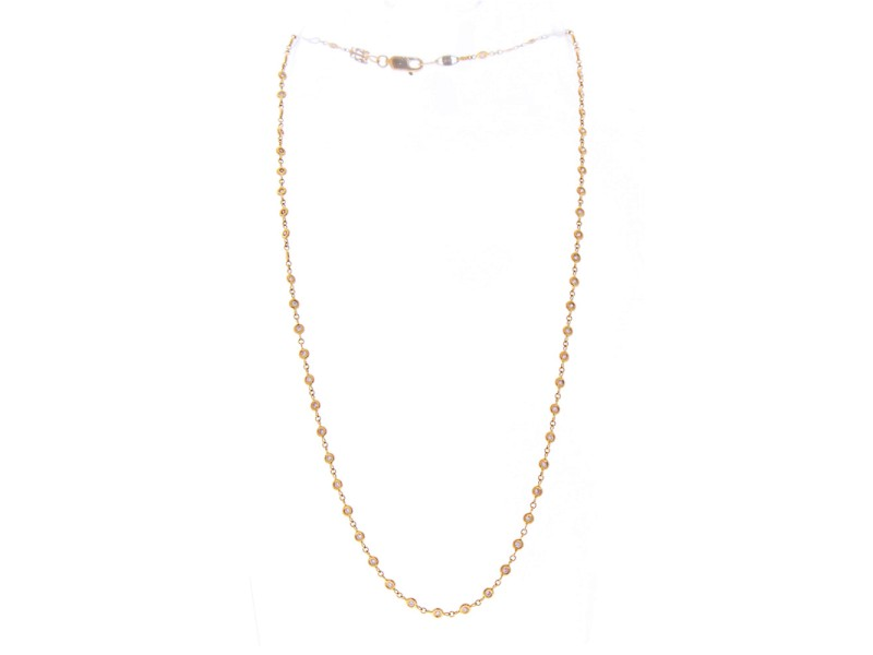 0.74 Carat Total Weight Natural Pink Diamond Rose Gold Necklace