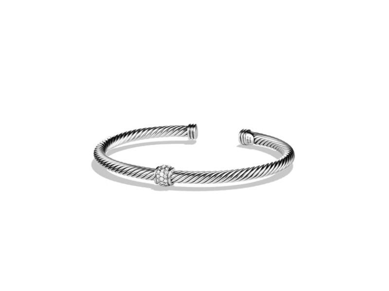 David Yurman Sterling Silver & Diamonds Bracelet