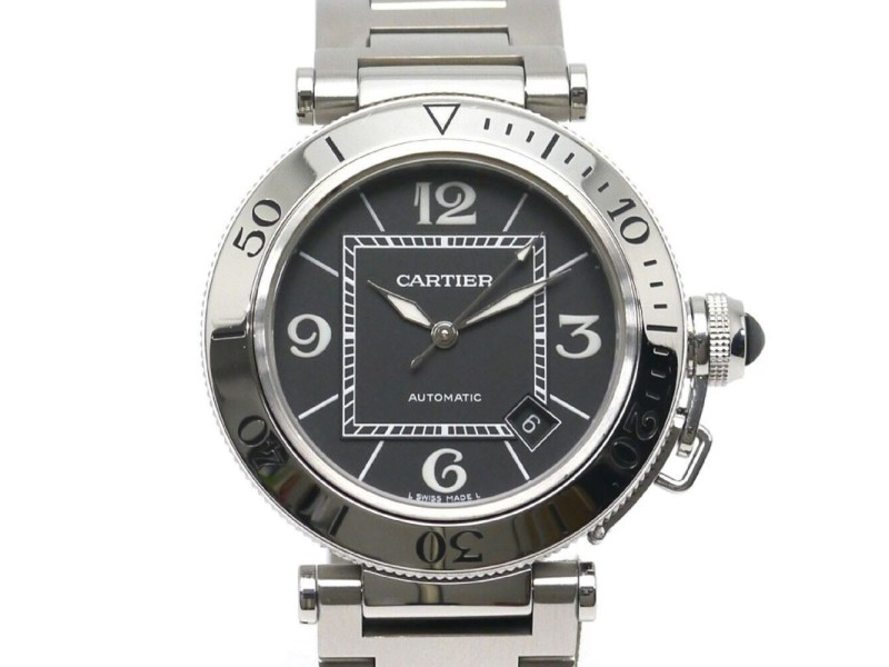 Cartier Pasha Sea Timer W31077M7 40.5mm Mens Watch
