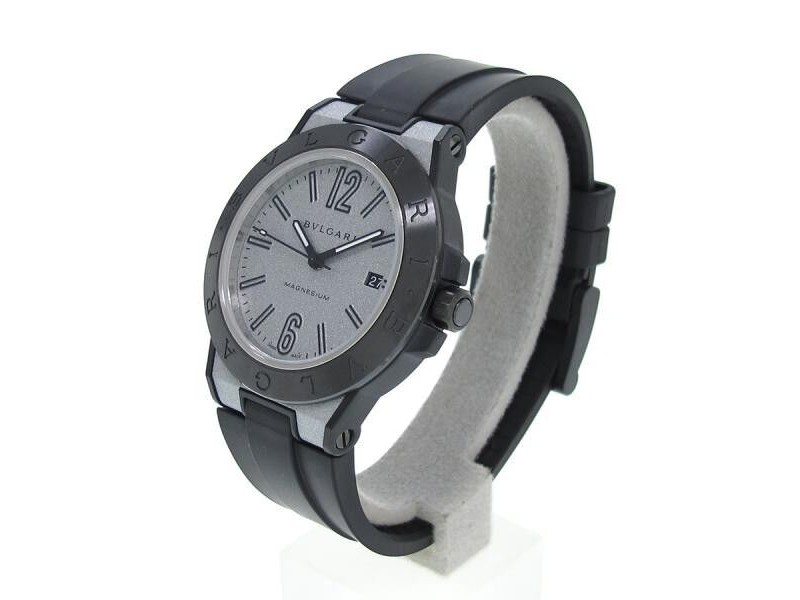 newest 40797 a890e Bulgari Diagono Magnesium Dg41smc 41mm Mens Watch
