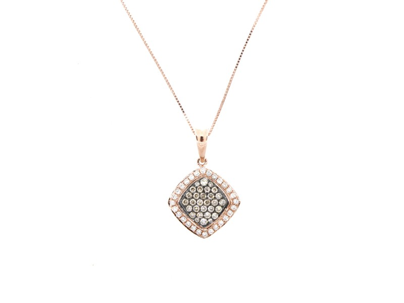Espresso Champagne Diamond Pendant Necklace