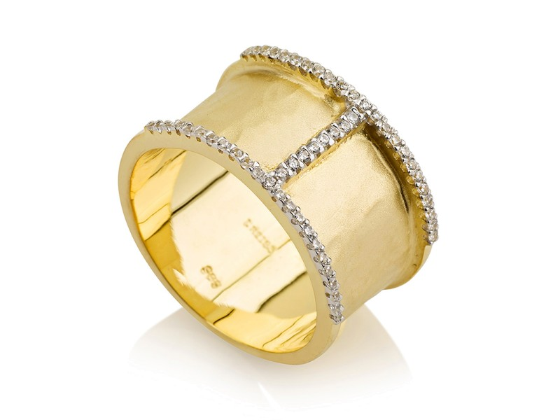 I.Reiss Matte And Hammer-Finish Ring