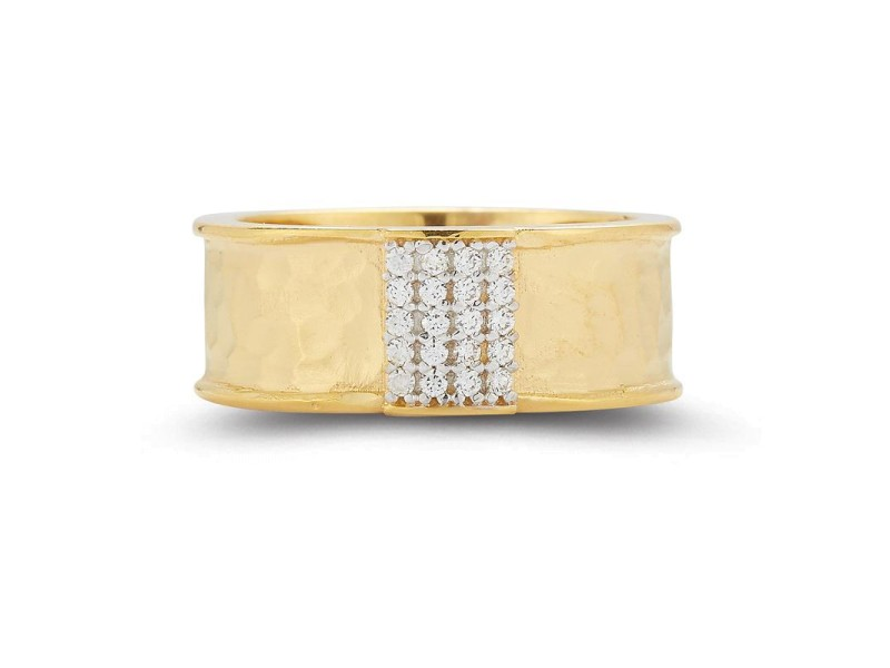 I.Reiss 14K Yellow Gold 0.12 Ring Size 7