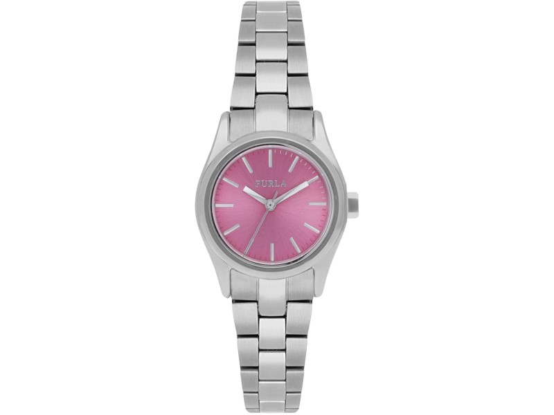 Furla Women's Eva Pink Dial Stainless steel Watch