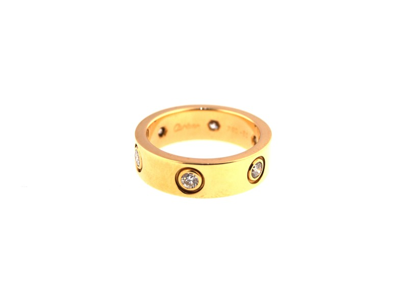 Cartier 18K Yellow Gold Love Diamond Ring