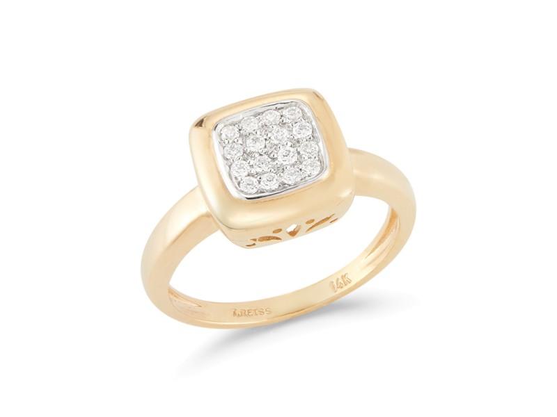 I.Reiss Polish-finished Square-shaped Ring