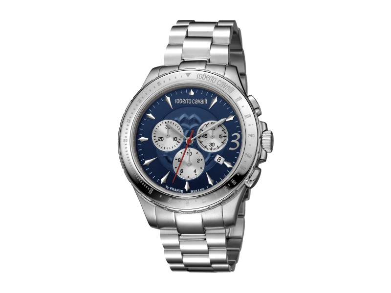 Roberto Cavalli Dark Blue Silver Stainless Steel  RV1G014M0066 Watch
